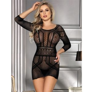 backless mini dress body stocking