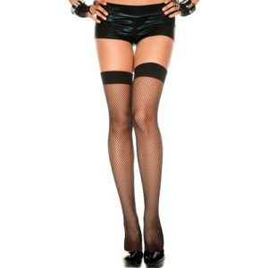 Fishnet Thigh High Black by Music Legs