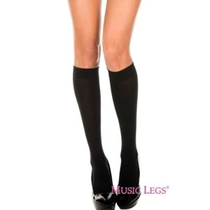 black knee high socks from music legs lingerie