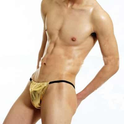 gold g-string for man