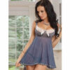 grey and white periwinkle babydoll lingerie