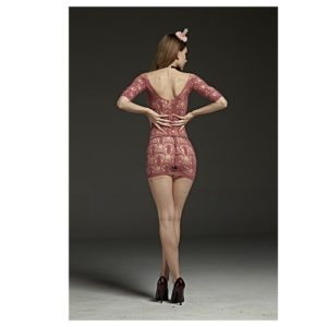 Back pineapple dress bodystocking