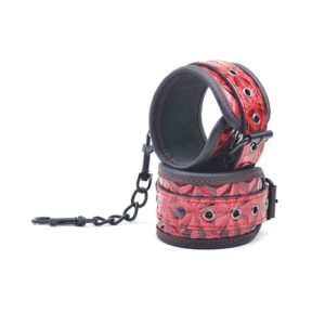 red embossed hand cuff