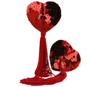 heart shape sequin nipple tassel