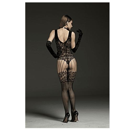 strappy garter body stocking