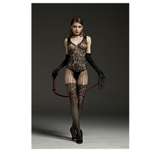 wide strap garter body stocking