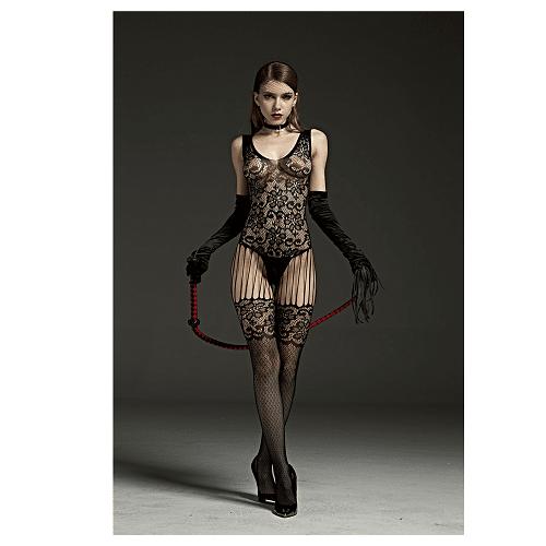 wide strap garter body stocking