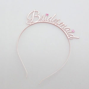 rose gold bridesmaid headband