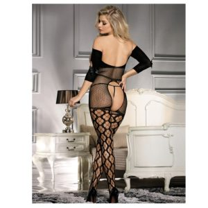 back of open breast and crotch body stocking