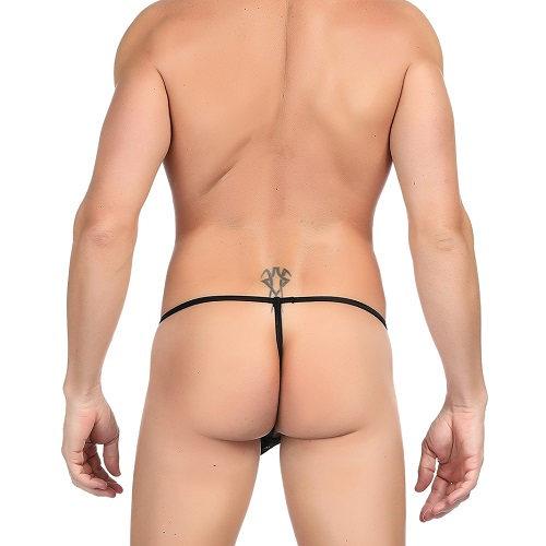 male g-string black lace