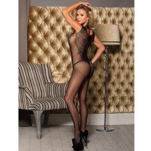 body stocking with flower pattern