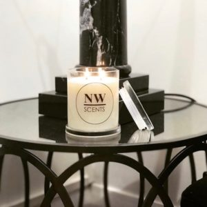 natural double wick soy candle by nw scents