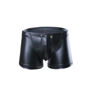 button leather look male brief