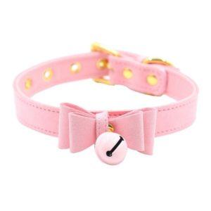 pink bell collar choker