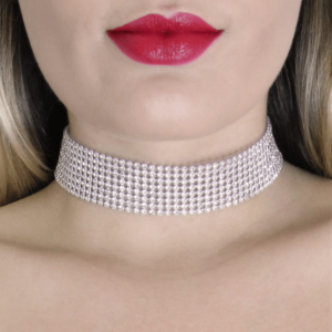 diamante choker by love in leather