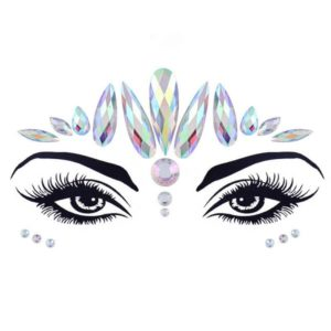 elegant design face crystal sticker