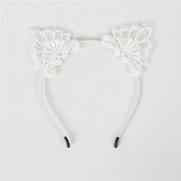 white cat ear head band