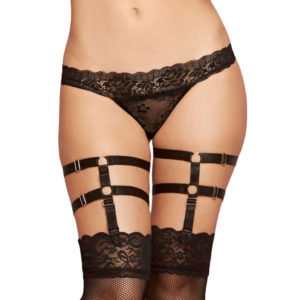 love in leather elastic leg garters