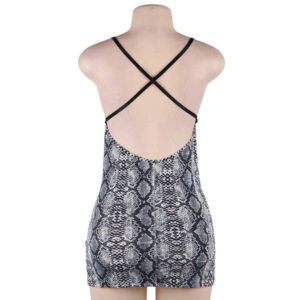 charming fitted snakeskin dress