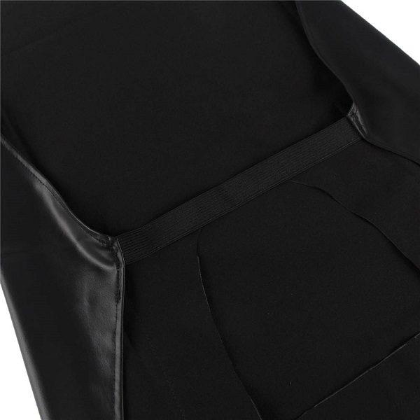 male faux leather apron