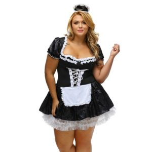 plus size lingerie fance french maid costume
