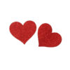 red heart shaped nipple covers