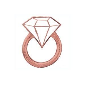 rose gold ring foil balloon