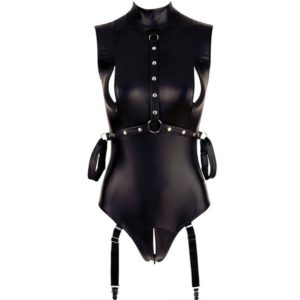temptations bodysuit with zipper open breast and crotch