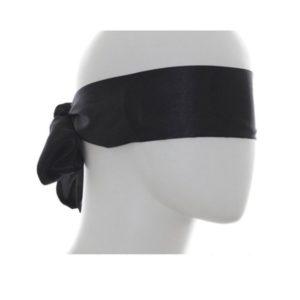 black silky sash blindfold