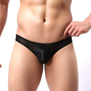 black lace g-string thong by manview