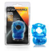 blue stay hard 5 function vibrating cock ring