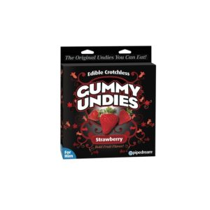 strawberry edible male gummy undies