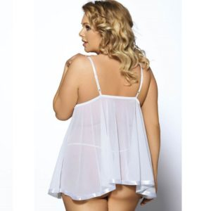 plus size white sheer babydoll