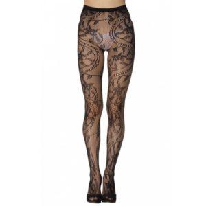 charming floral pattern fishnet pantyhose