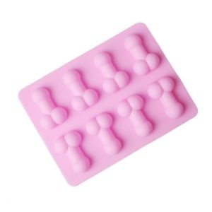 pink silicone penis ice tray