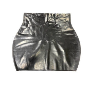 flat latex mini skirt