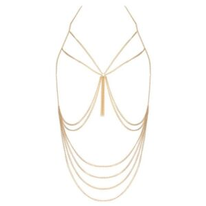 gold muse chain body harness