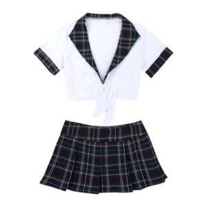 naughty school girl costume crop and skirt