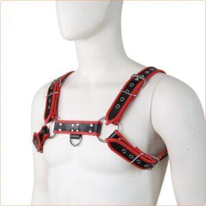 male bondage chest harness