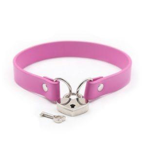 pink heart locker collar