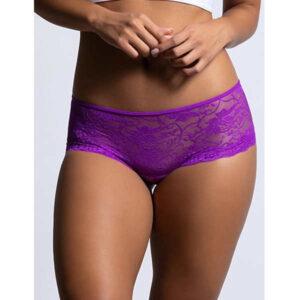 purple crotchless underwear