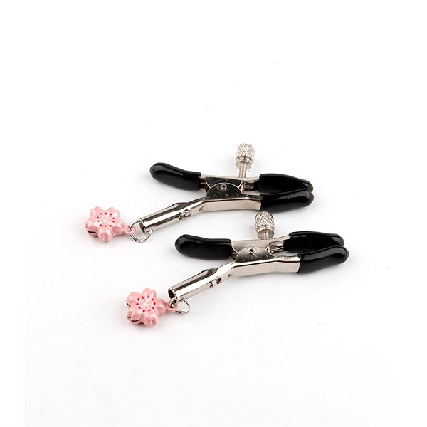 cherry blossom bell nipple clamps