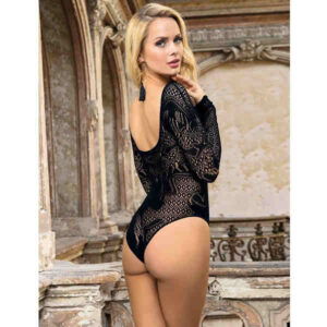 long sleeved bodystocking bodysuit
