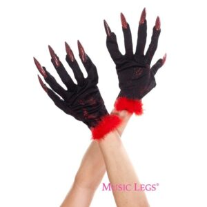 devil gloves with nails