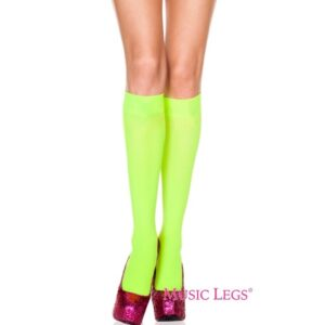 opague knee high neon green