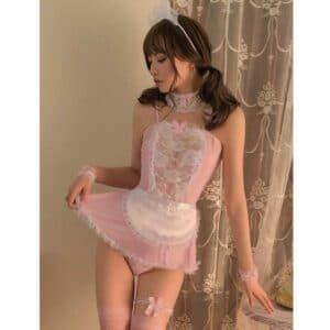 pink temptation maid costume