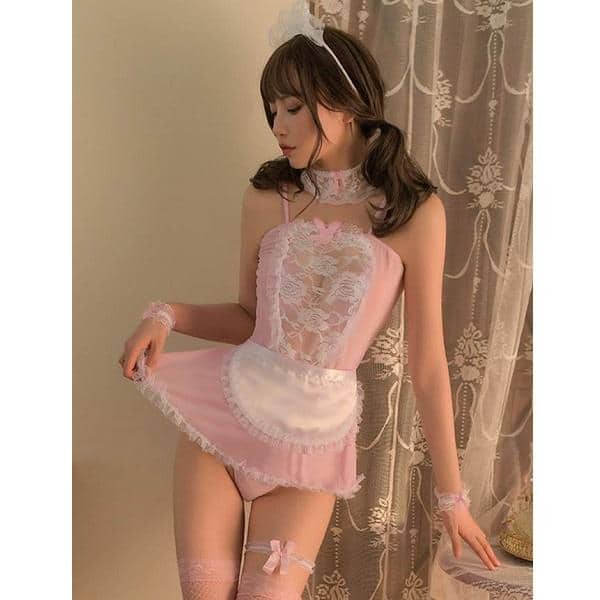 pink temptation maid costume