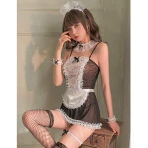 black temptation french maid costume