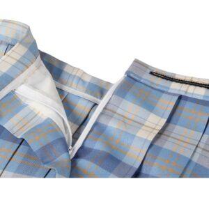 sweet school girl costume blue skirt