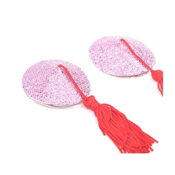 coloured sparkle nipple tassels